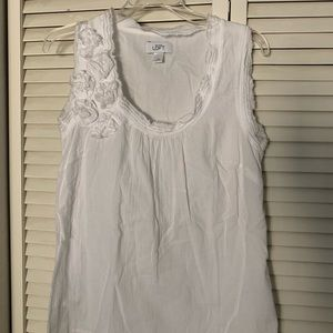 Loft white cotton gauze tank. Sz XS